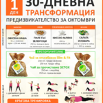 30-дневно ОКТОМВРИЙСКО предизвикателство (хранене + тренировки)
